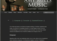 Amy Mills Music Website by Cindy Emmett