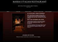 Italian Restaurant Website by Cindy Emmett