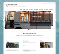 Media Van website by Cindy Emmett