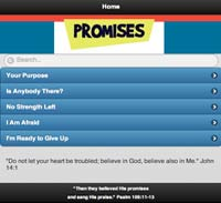 God's Promises Mobile Site by Cindy Emmett